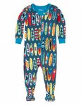 Hatley DR5SURF33 Surf Boards Footed Coverall Available Sizes 3-6/6-9/9-12/12-18 Months